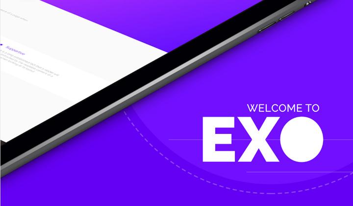EXO: nowoczesny szablon one-page PSD
