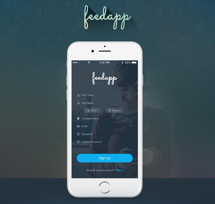FEEDAPP: Nowoczesny mobilny set user interface