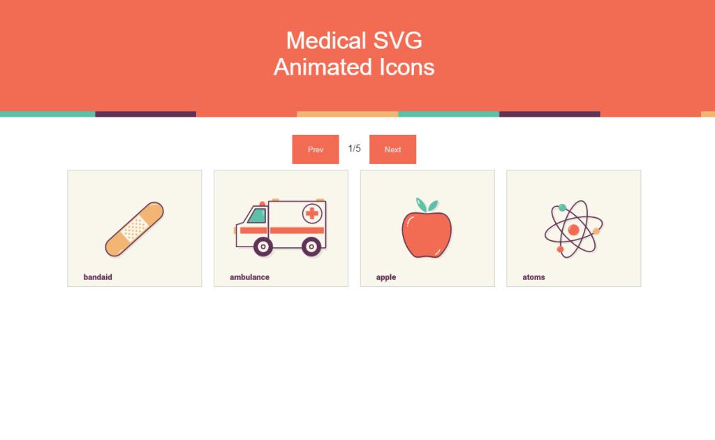 Animowane ikonki medyczne