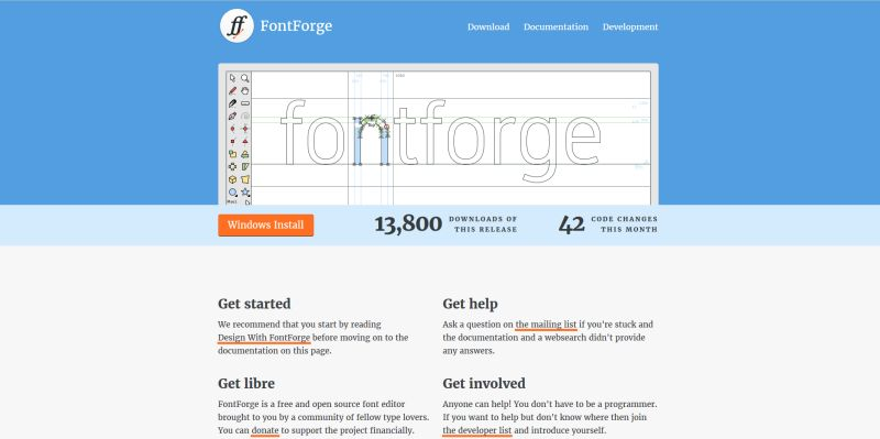 Narzędzia dla blogerów - Fontforge