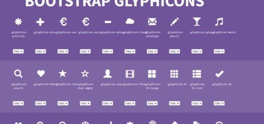 Ściągawki dla programistów - Bootstrap glify i ikony