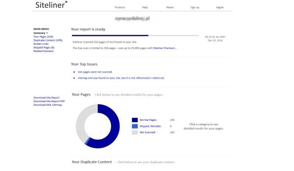 Narzędzie dla content managerów do sprawdzania stron