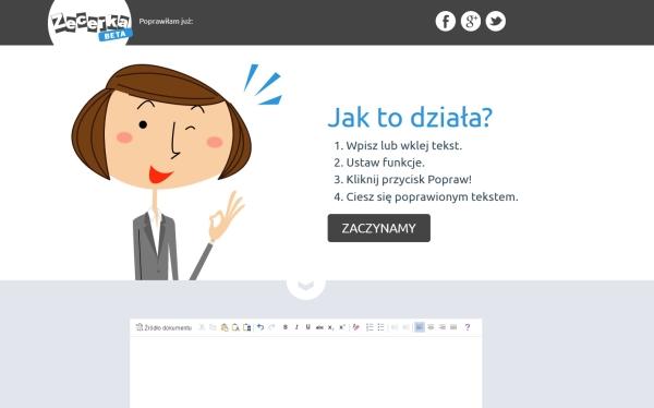 Aplikacja do poprawiania błędów typograficznych