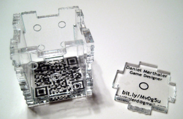 Cięcia laserowe wizytówke 3D