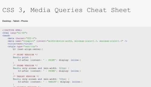 Infografika media query CSS