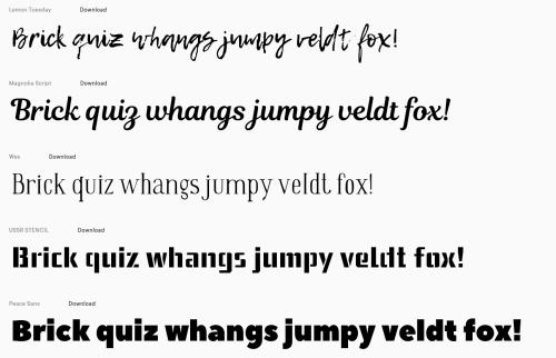 Strony www z darmowymi fontami