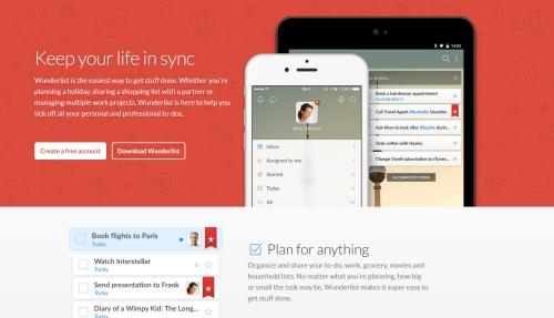 Aplikacje dla copywriterów - wonderlist