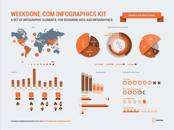 Zestawy wektorów do infografik