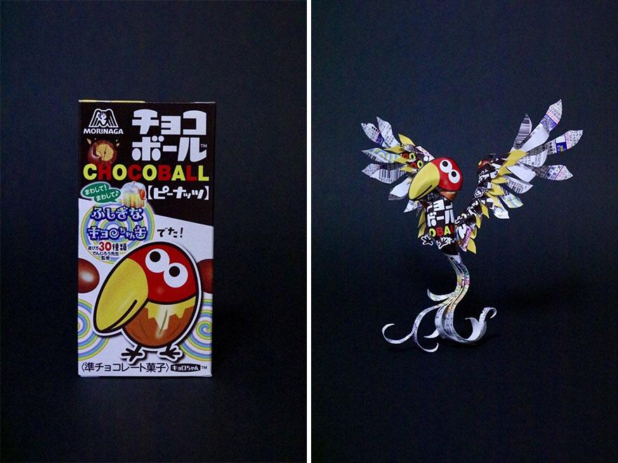 Niezwykłe prace japońskiego artysty - drugie życie opakowań
