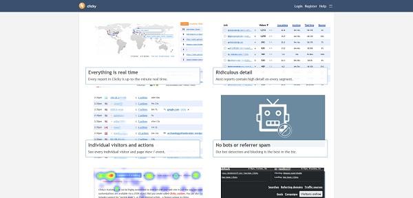 Statystyki strony www i bloga - Clicky
