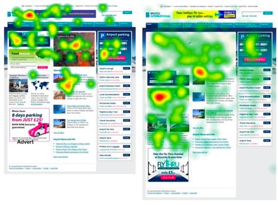 Mapa ciepła strony www w różnych długościach i z różnym rodzajem contentu: gdzie umieścić Call to Action