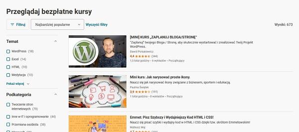 Darmowe kursy online z certyfikatem dla freelancerów - Udemy